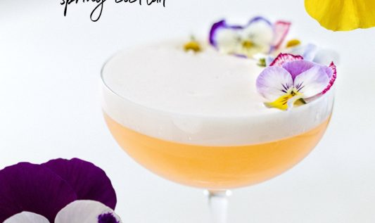 Sweet & Tangy Spring Cocktail