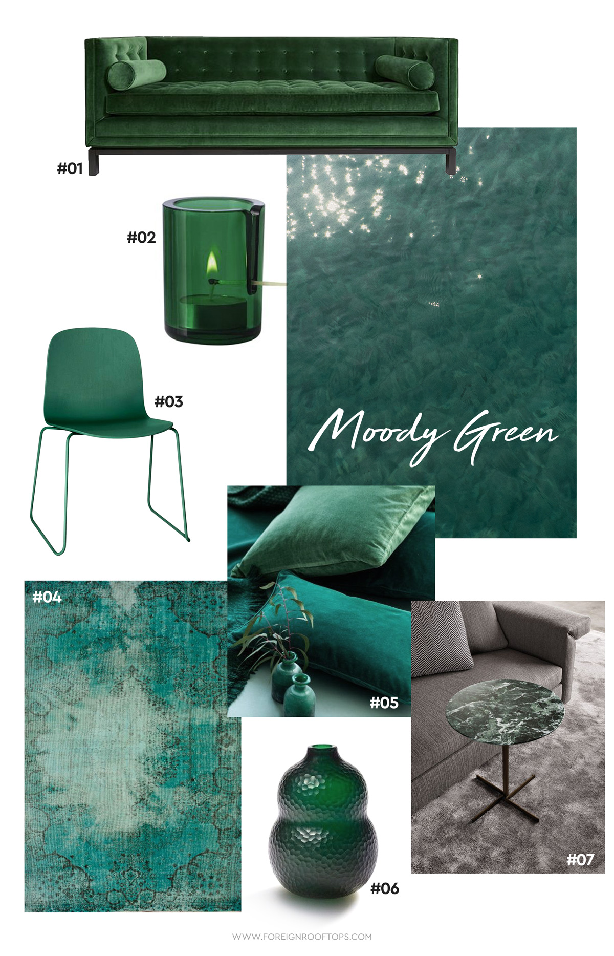 Color Coded Dark Green Moody Hues In Malaysia Foreign
