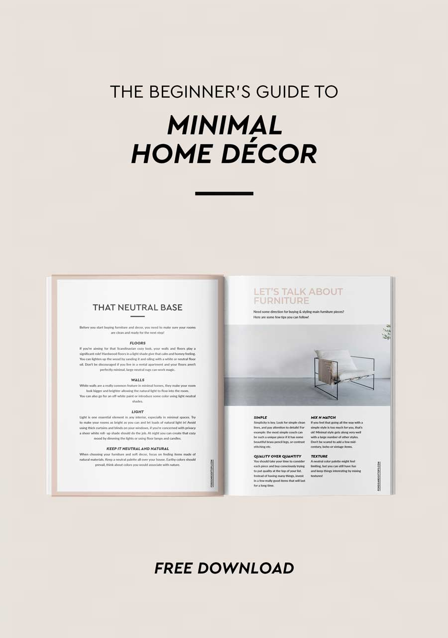 The Beginners Guide to Minimal Home Décor - FREE eBook • Foreign ...
