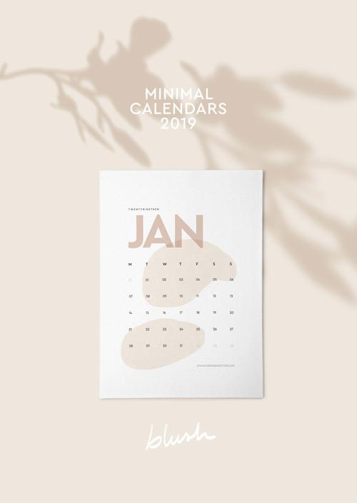 calendario mensual para imprimir 2019